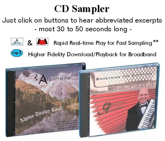 CD Sampler Alpiners; Something for Everyone